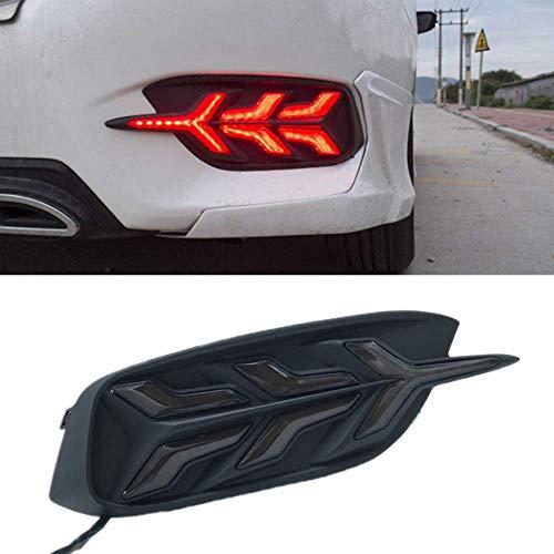 Rear Bumper Car Tail Fog/Brake Lamp Light Updated Modification Car Styling For HONDA Civic Sedan 10th Gen 2016 2017