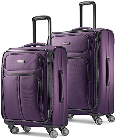 Samsonite Leverage LTE Softside Expandable Luggage with Spinner Wheels, Purple, 2-Piece Set (20/25)