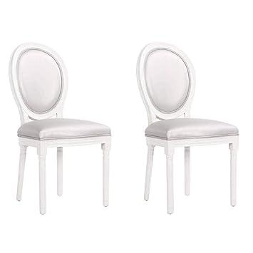 – Juego de 2 sillas medallón Versalles estilo Louis XVI ...