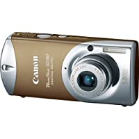 Canon Powershot SD30 5MP Digital Elph Camera with 2.4x Optical Zoom (Glamour Gold)