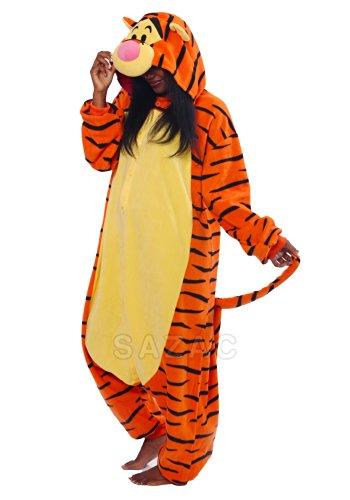 Tigger Pajama Costumes (Tigger Kigurumi - Adults Costume)