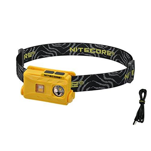 Nitecore NU25 360 Lumen Triple Output - White, Red, High CRI - Lightweight USB Rechargeable Headlamp (Yellow)