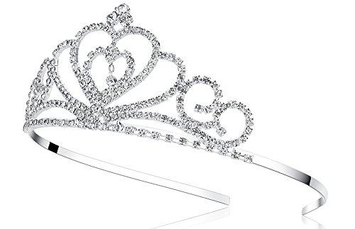 Lovelyshop Rhinestone Crystal Tiara-Wedding Bridal Prom Birthday Pegeant Prinecess Crown (Heart) by Lovely Shop (Image #2)