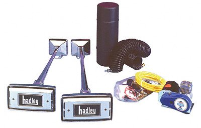(Hadley Horns H00977N Twin Rectangular Horn Kit)