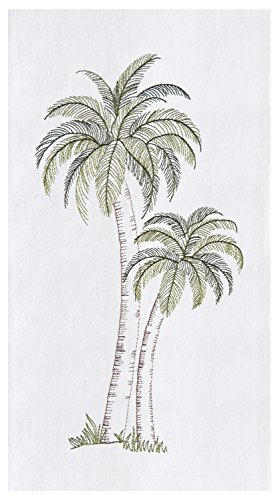 C&F Home Tropical Palm Tree Embroidered Flour Sack Kitchen Dishtowel