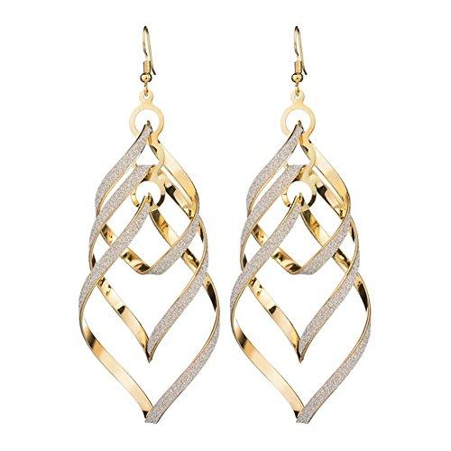 Wave Dangle (Shefine Lady's Dangle Earrings Twist Wave Long Tassel Earrings Drop&Dangle)