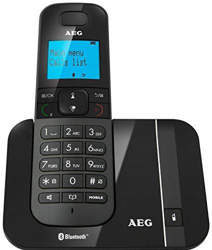 AEG VOXTEL D550BT schnurloses DECT-Telefon mit Bluetooth-Funktion und 1,6 Zoll (4,1 cm) großem hintergrundbeleuchtetem Display