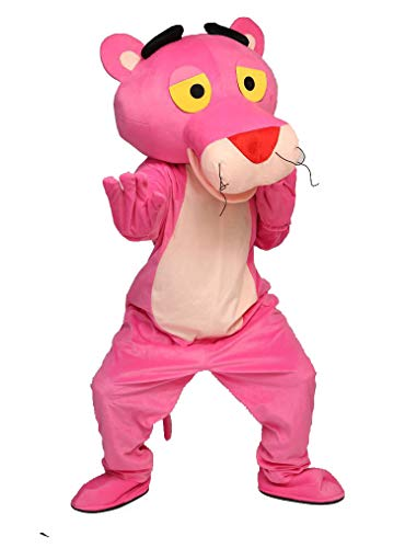 YUJUAN Animal Pink Panther Cosplay Mascot Costume Performance Prop (Pink, M(160-175CM)) -