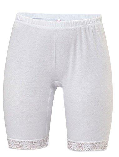 HMD Underwear Long Leg%100 Cotton Panty (XXXL-64, White)