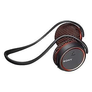 Sony MDR-AS700BT - Auriculares de contorno de cuello Bluetooth, negro y naranja