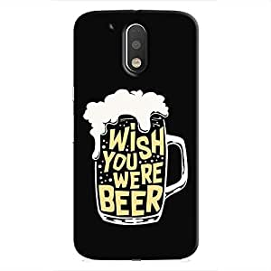 Cover It Up - Wish You Were Beer Moto G4/G4 Plus Hard Case