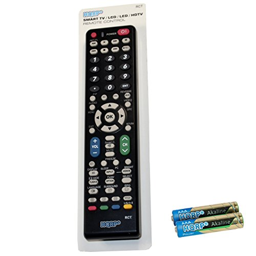 (HQRP Remote Control for Sharp LC-32D6U LC-32D7U LCD LED HD TV Smart 1080p 3D Ultra 4K AQUOS + HQRP Coaster)