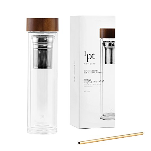 Infusion Kit (Teroforma 1PT Infusion Kit - Spirit & Alcohol Home Bar Infuser Kit w/Infusion Bottle, 3 Piece Set)