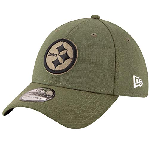 (New Era Mens NFL 2018 Salute to Service 39Thirty Flex Fit Hat (Small/Medium, Pittsburgh Steelers))