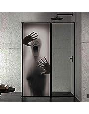 Scary shadow behind the glass ghost Halloween creative 3D door sticker individual wooden door family decoration wallpaper