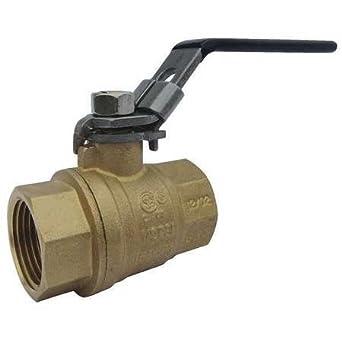 """Ball Valve Brass Inline 2-Piece Pipe Size 2-1//2/"""" Connection Type FNPT x FNPT"""