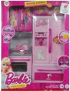 Shop Grab Kid S Modern Barbie Kitchen Play Set Multicolour Buy Online In Pakistan At Desertcart
