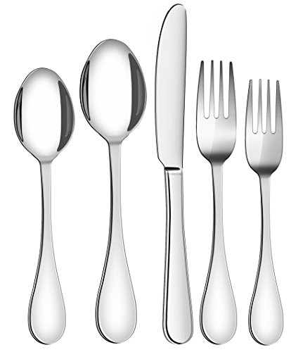 Utopia Kitchen 20 Piece Flatware Set Silverware Set - Stainless Steel - Service for 4 - Multipurpose Use for Home Kitchen or Restaurant