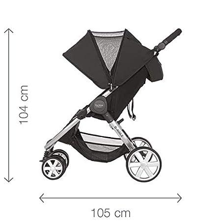 Britax B-Agile Doble - Silla de paseo gemelar, color Steel Grey
