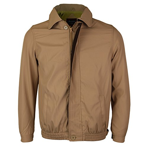 - Maximos USA Men's Microfiber Golf Sport Water Resistant Zip up Windbreaker Jacket Benny (M, Khaki/Brown)