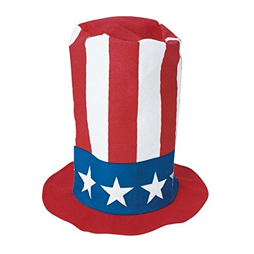 - USA Felt Red White & Blue Stovepipe Top Hat