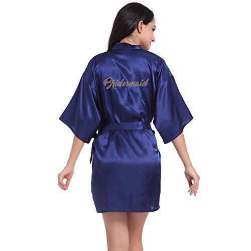 Vestaglie Pigiami Camicie WYSMOL Accappatoi Damigella Blu Donna e e Kimono d'onore Notte da Xqq6gwE