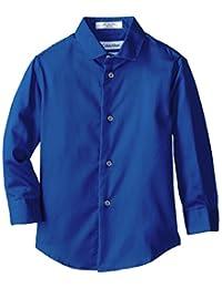 Calvin Klein Little Boys' Sateen Hanging Dress Shirt