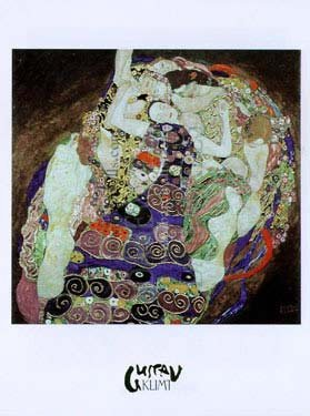 (Virgin, The / Young Ladies, Art Poster by Gustav Klimt)