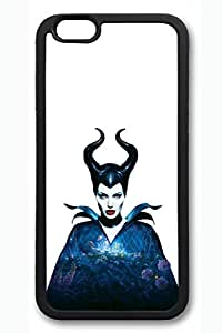 iPhone 6 Case, iPhone 6 Cases - Full-Body Protective Black Soft Case for iPhone 6 Maleficent Angelina Jolie Movie Water-Resistant Rubber Case Cover for iPhone 6 4.7 Inches