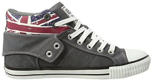 Grey Roco Jack Uomo Knights British Alte Sneaker Grau Dk Twill Union ZBwnq8v5n