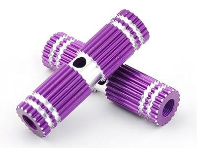 Purple Striated Aluminum Alloy Foot Axle Bike Peg for BMX Bikes