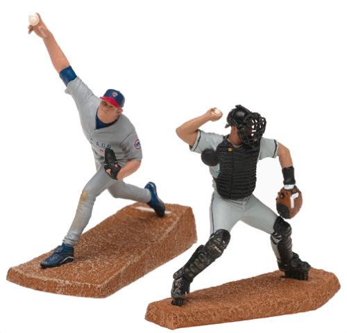 McFarlane Toys MLB 3 Inch Sports Picks Series 1 Mini Figure 2-Pack Mark Prior & Ivan Rodriguez ()