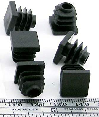 RTR/_SJHTRA 24 Pieces of Ribbed Plug Square Plastic Finishing Plugs Fit 1//2 Outside Dimension Tube