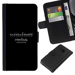 LECELL--Cuero de la tarjeta la carpeta del tirón Smartphone Slots Protección Holder For HTC One M9 -- YO SOY starstuff --