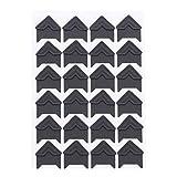 SOURBAN 24pcs Kraft Paper Photo Corner,Black