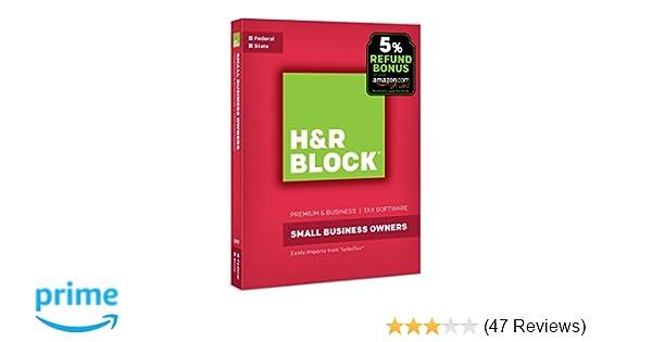 H&R Block Tax Software Premium & Business 2017 with 5% Refund Bonus Offer