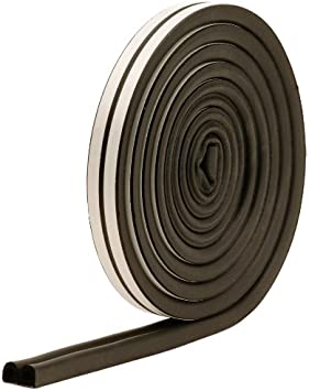 17 Ft L X 3//8 in W 7//32 in T Epdm Rubber White M-D Building Products 2576 M-D 0 All Climate P-Profile Subzero Weather-Strip
