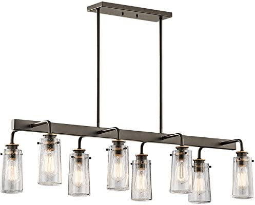 Kichler 43457OZ Braelyn 8-Light Chandelier Linear Double in Olde Bronze