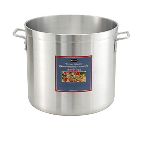 Winco ALHP-120 6.0mm Aluminum Stock Pot, 120-Quart