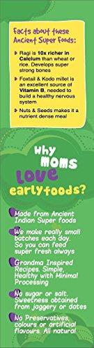 Early Foods - Organic Sattu Maavu - Multi-grain Porridge mix 200g - Indian Baby Foods, Vegan Baby Food, 100% Plant Based by EARLY FOODS (Image #4)