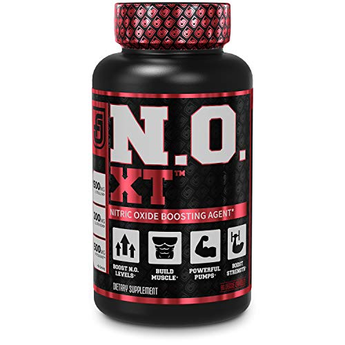 N.O. XT Nitric Oxide Supplement With Nitrosigine L Arginine andamp; L Citrulline for Muscle Growth, Pumps, Vascularity, andamp; Energy - Extra Strength Pre Workout N.O. Booster andamp; Muscle Builder - 90 Veggie Pills