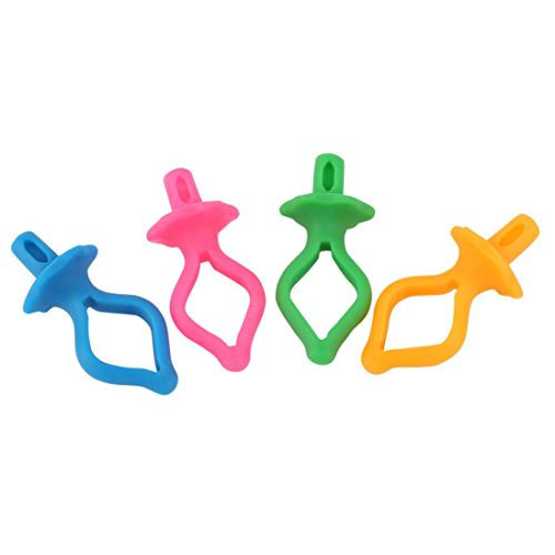 8/16/24/32/40/48PC Color Silicone Thread Clips Bobbin Holders Clips Clamps Tool (B,40PC)