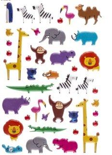 (Puffy Zoo Animals Stickers - 49pc)