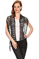 LL Womens Elegant Chiffon and Embroidered Lace Scarf Many Styles
