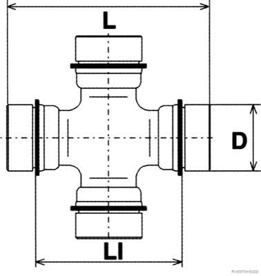 arbre longitudinal BUSS JAKOPARTS j2921002/Joint HERTH