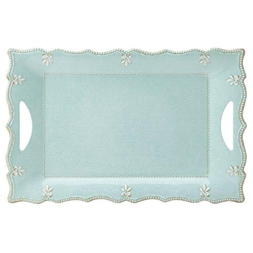 Lenox French Perle Melamine Aqua Large Rectangular Platter