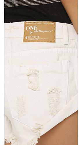 One Teaspoon Women's Worn White Bandit Shorts, Worn White, 24 by One Teaspoon (Image #5)