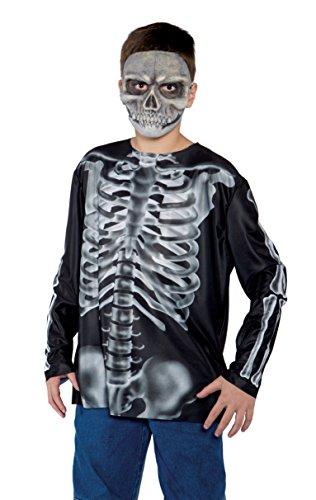 Underwraps Child X-Ray Skeleton Shirt, Medium