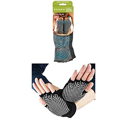 Amazon.com : yoga gloves and socks set : Sports & Outdoors