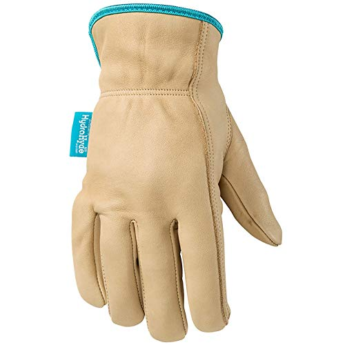 Women's Water-Resistant Leather Work Gloves, HydraHyde, Medium (Wells Lamont 1167M)